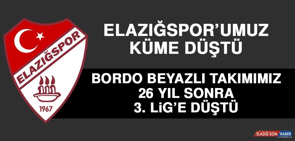 Elazığspor, 26 Yıl Sonra 3. Lige Düştü