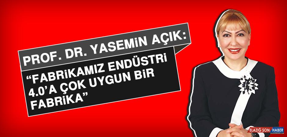 Prof. Dr. Yasemin Açık: Fabrikamız endüstri 4.0'a çok uygun bir fabrika