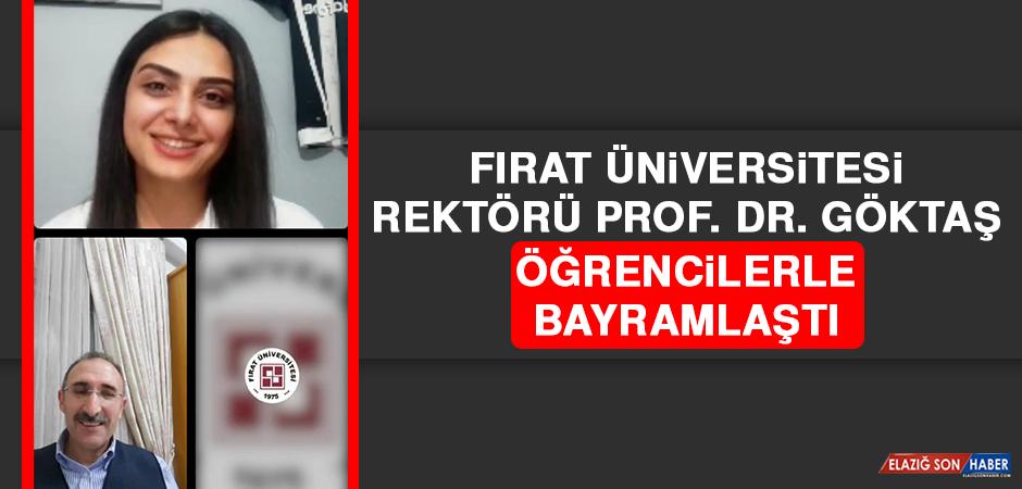 Rektör Prof. Dr. Göktaş, Öğrencilerle Bayramlaştı