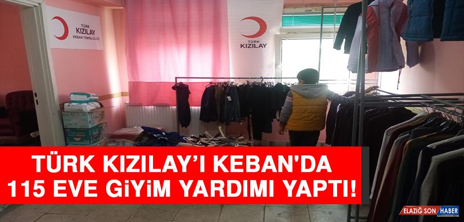 Türk Kızılay'ı, Keban'da 115 Eve Giyim Yardımı Yaptı