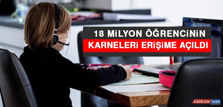 18 Milyon Öğrencinin Karneleri Erişime Açıldı
