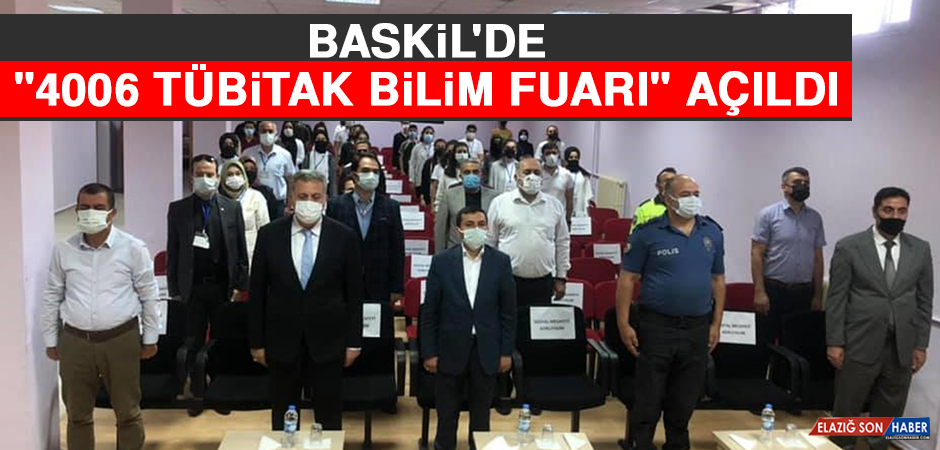 """Baskil'de """"4006 TÜBİTAK Bilim Fuarı"""" Açıldı"""