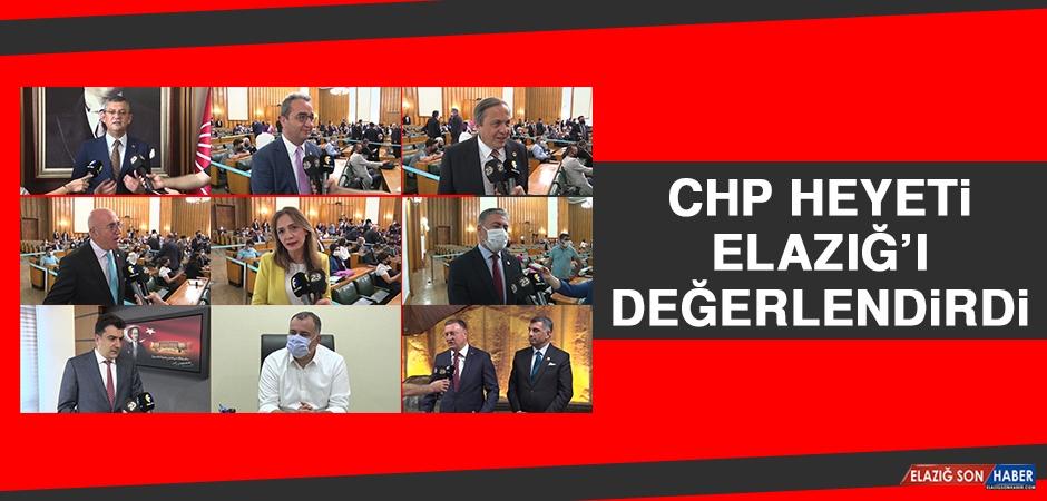 CHP Heyeti Elazığ'ı Değerlendirdi