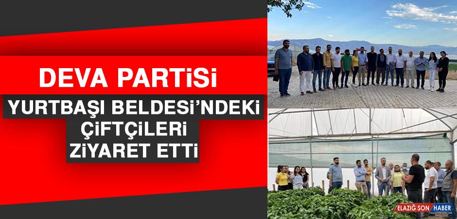 Deva Partisi Yurtbaşı Beldesi'ndeki Çiftçileri Ziyaret Etti