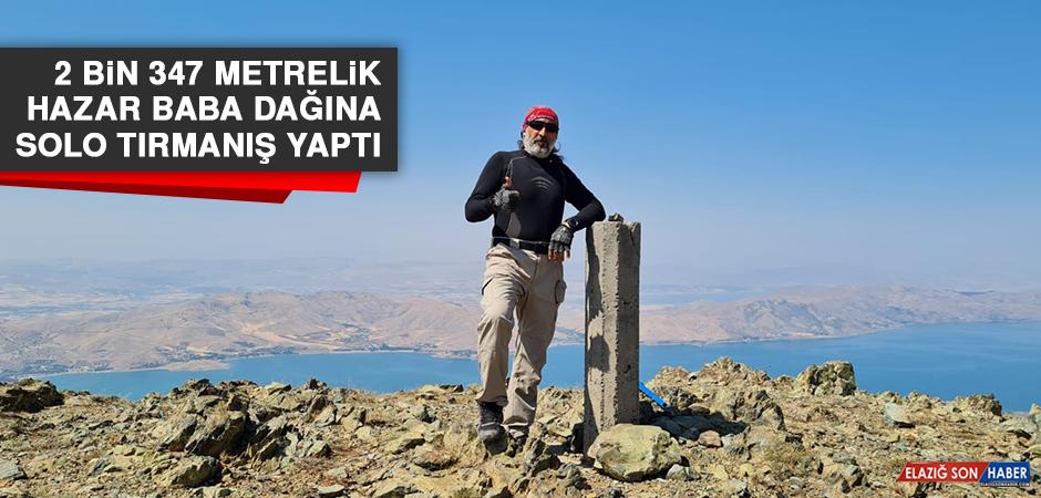2 Bin 347 Metrelik Hazar Baba Dağına Solo Tırmanış Yaptı
