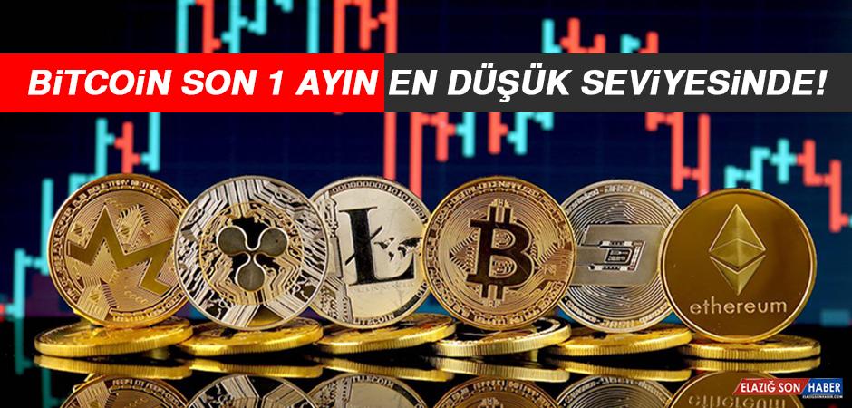 Bitcoin Son 1 Ayın En Düşük Seviyesinde