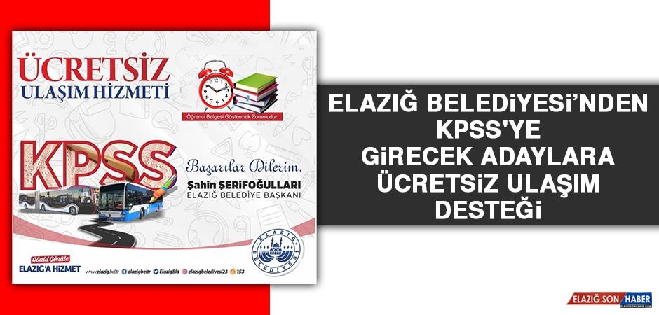 Elazığ Belediyesi'nden KPSS'ye Girecek Adaylara Ücretsiz Ulaşım Desteği