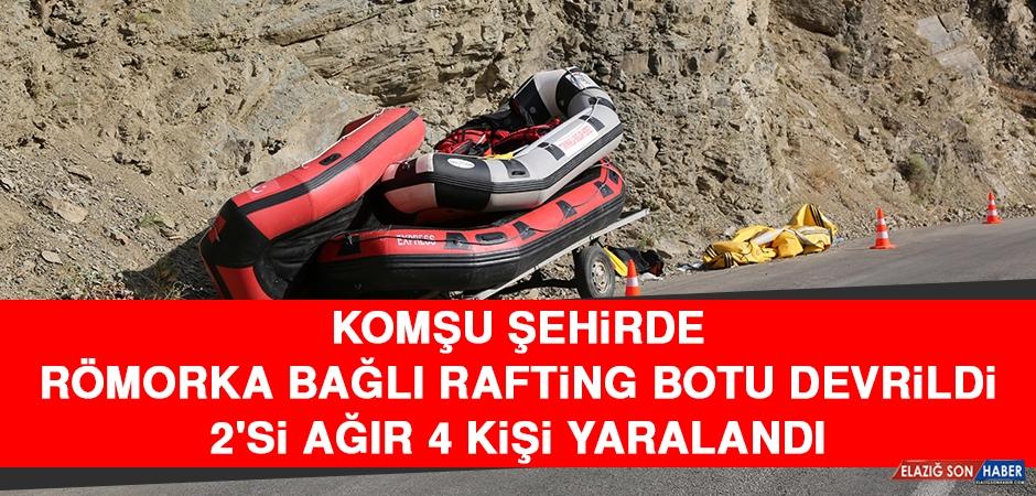 Komşu Şehirde Römorka Bağlı Rafting Botu Devrildi