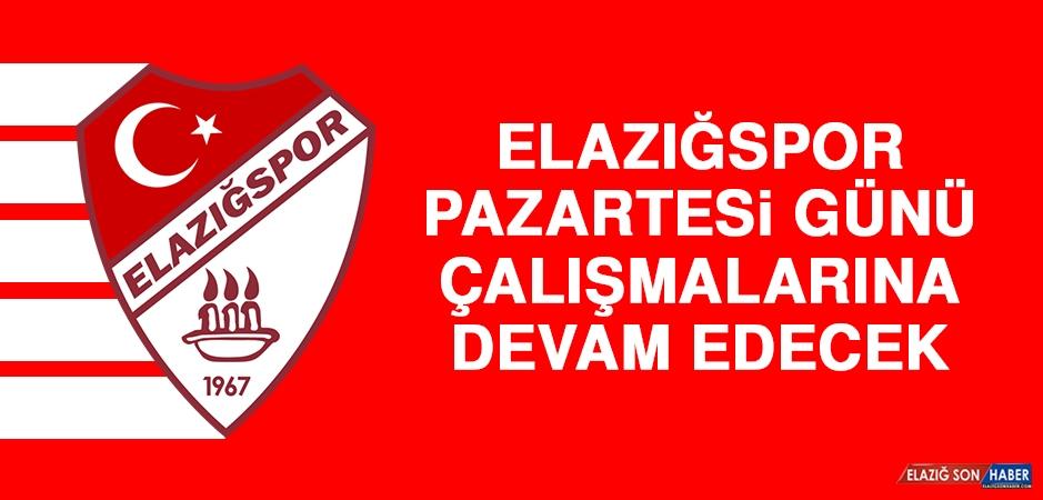 Elazığspor, Pazartesi Günü Çalışmalarına Devam Edecek