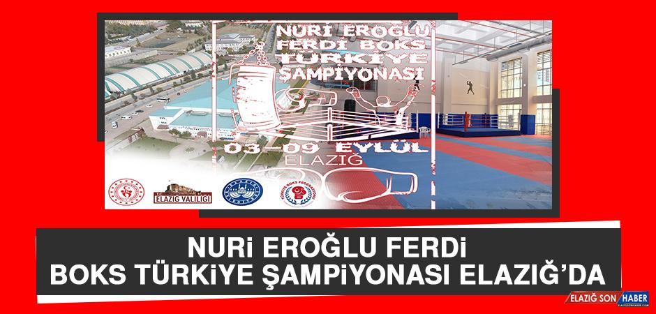 Nuri Eroğlu Ferdi Boks Türkiye Şampiyonası Elazığ'da
