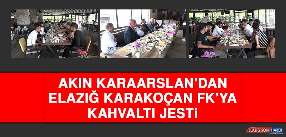 Akın Karaarslan'dan E.Karakoçan FK'ya Kahvaltı Jesti