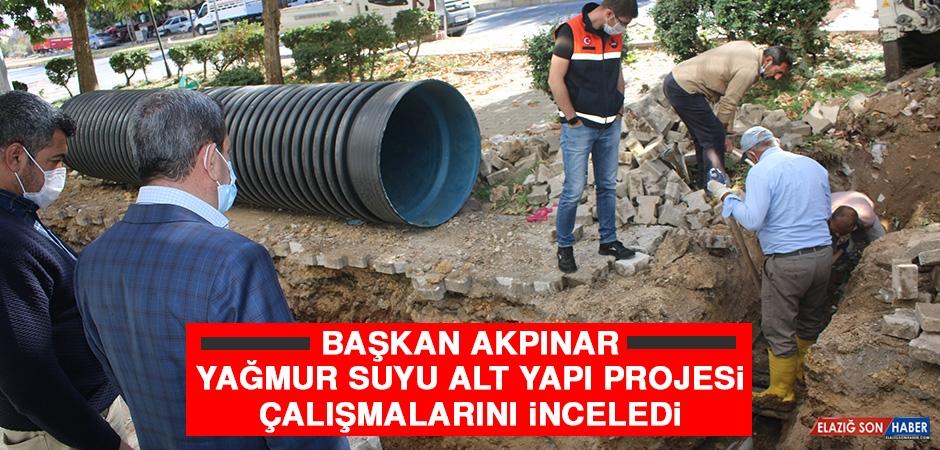 Başkan Akpınar Yağmur Suyu Alt Yapı Projesi Çalışmalarını İnceledi