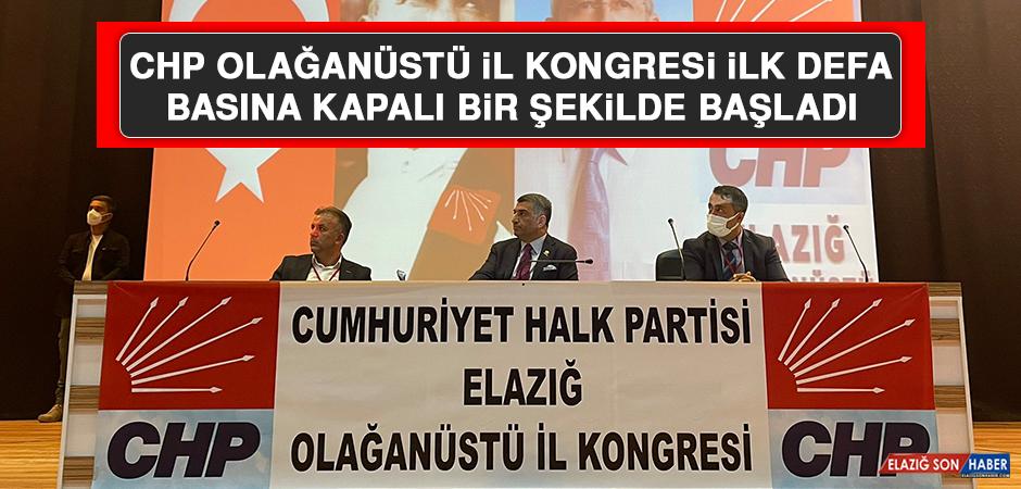 CHP Olağanüstü İl Kongresi İlk Defa Basına Kapalı Bir Şekilde Yapıldı