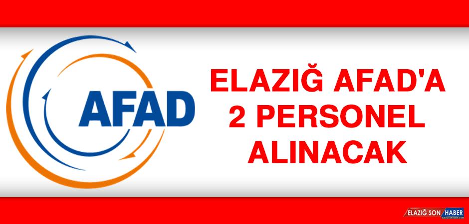 Elazığ AFAD'a 2 Personel Alınacak