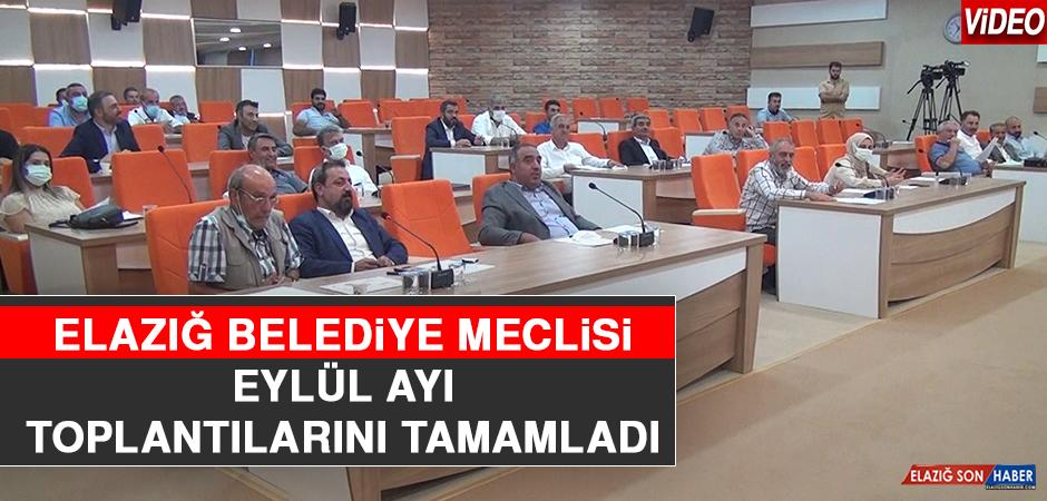 Elazığ Belediye Meclisi Eylül Ayı Toplantılarını Tamamladı