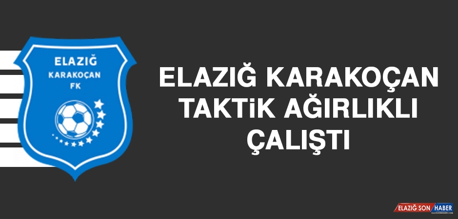 Elazığ Karakoçan, Taktik Ağırlıklı Çalıştı