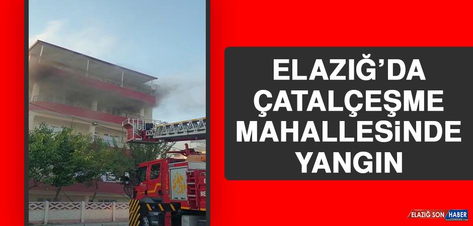 Elazığ'da Çatalçeşme Mahallesinde Yangın