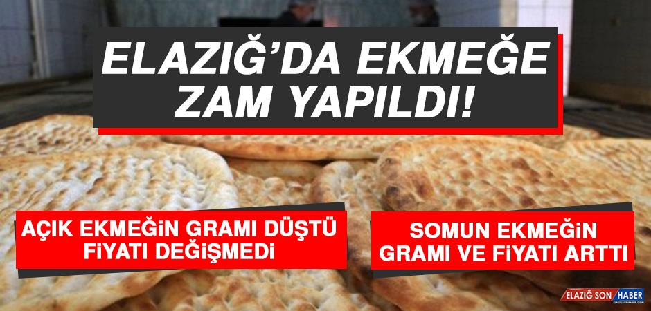 Elazığ'da Ekmeğe Zam Yapıldı!
