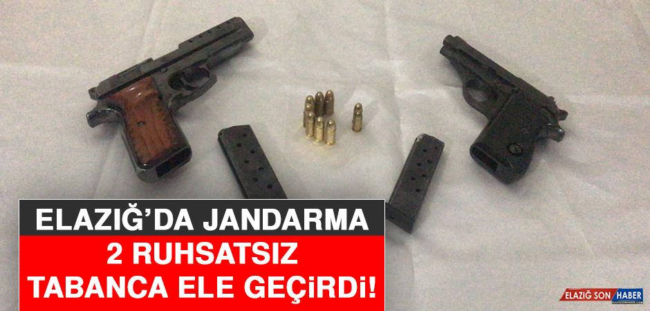 Elazığ'da Jandarma 2 Ruhsatsız Tabanca Ele Geçirdi