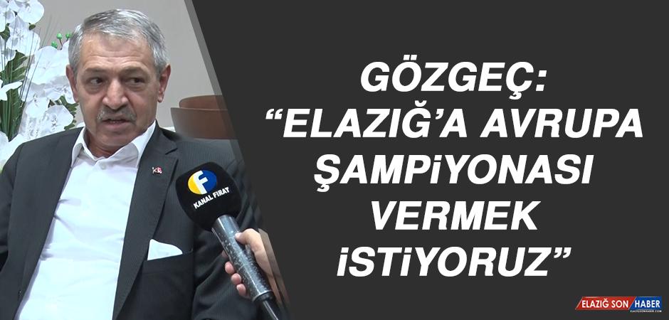 """Gözgeç: """"Elazığ'a Avrupa Şampiyonası vermek istiyoruz"""""""