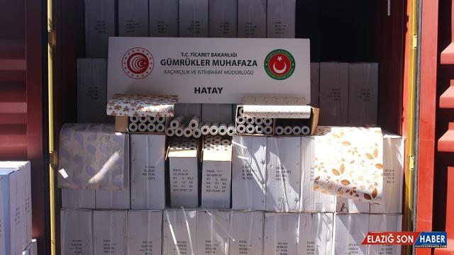 Hatay'da 12,5 milyon liralık kaçak ticari ürün ele geçirildi