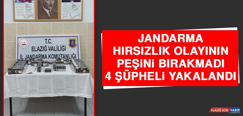 Jandarma Hırsızlık Olayının Peşini Bırakmadı, 4 Şüpheli Yakalandı