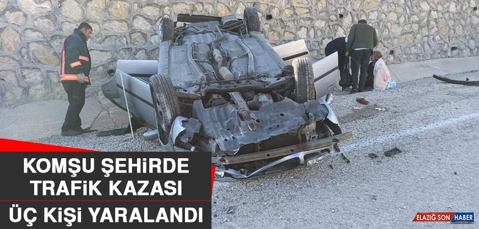 Komşu Şehirdeki Kazada Üç Kişi Yaralandı