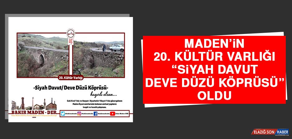 """Maden'in 20. Kültür Varlığı """"Siyah Davut/ Deve Düzü Köprüsü"""" Oldu"""