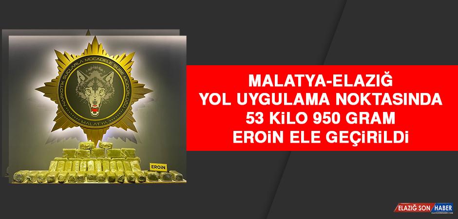 Malatya-Elazığ Yol Uygulama Noktasında, 53 Kilo 950 Gram Eroin Ele Geçirildi