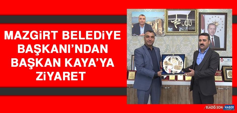Mazgirt Belediye Başkanı'ndan Başkan Kaya'ya Ziyaret