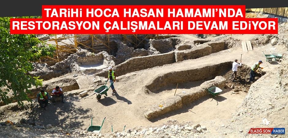 Tarihi Hoca Hasan Hamamı'nda Restorasyon Çalışmaları Devam Ediyor