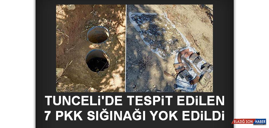TUNCELİ'DE Tespit Edilen 7 PKK Sığınağı Yok Edildi