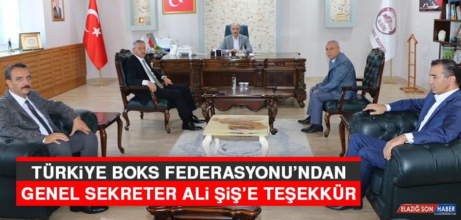 Türkiye Boks Federasyonu'ndan Genel Sekreter Ali Şiş'e Teşekkür