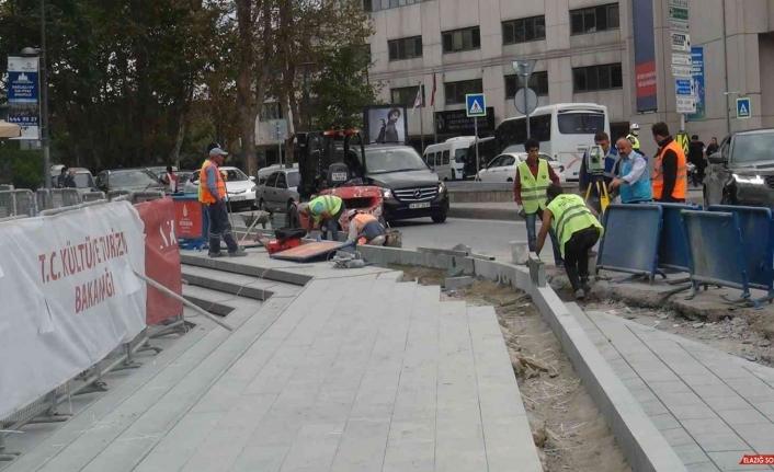Atatürk Kültür Merkezi'nin inşaat çalışmalarında sona doğru