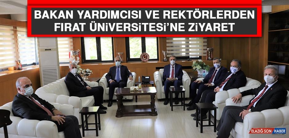 Bakan Yardımcısı ve Rektörlerden Fırat Üniversitesine Ziyaret