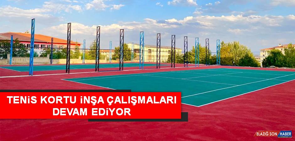 Elazığ'da Tenis Kortu İnşa Çalışmaları Devam Ediyor