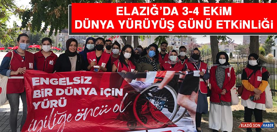 Elazığ'da 3-4 Ekim Dünya Yürüyüş Günü Etkinliği