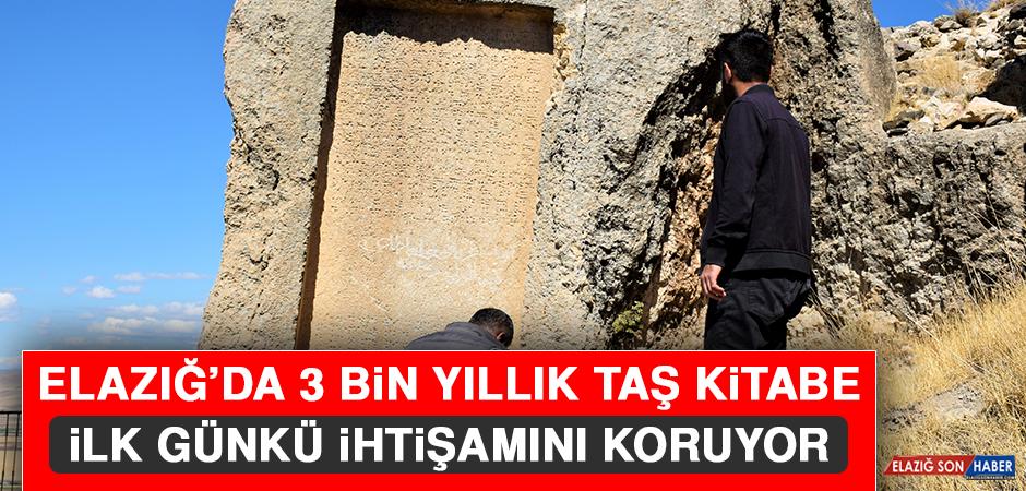 Elazığ'da 3 Bin Yıllık Taş Kitabe, İlk Günkü İhtişamını Koruyor