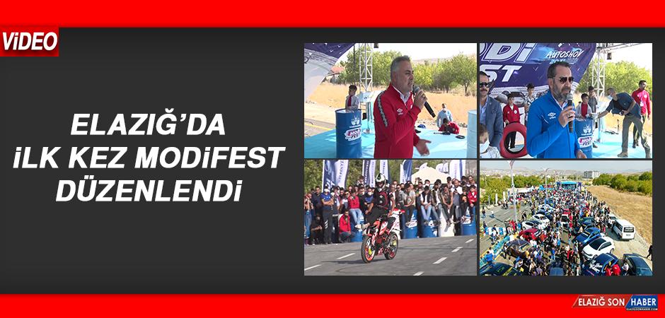 Elazığ'da Modifiyeli Araç ve Motosiklet Festivali Renkli Görüntülere Sahne Oldu
