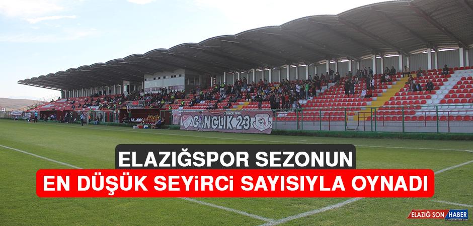 Elazığspor, Sezonun En Düşük Seyirci Sayısıyla Oynadı