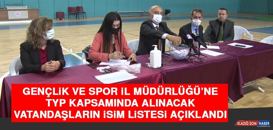 Gençlik ve Spor İl Müdürlüğü'ne TYP Kapsamında Alınacak Vatandaşların İsim Listesi Açıklandı