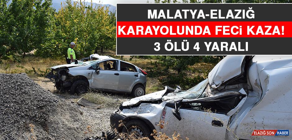 Malatya - Elazığ Karayolunda Feci Kaza: 3 Ölü, 4 Yaralı