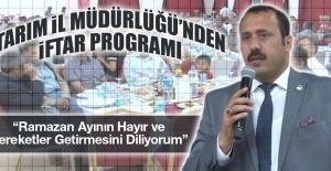 Tarım İl Müdürlüğü'nden iftar Programı