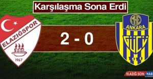 Elazığspor - MKE Ankaragücüspor Maçı Başladı