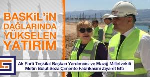 Metin Bulut Seza Çimento Fabrikasını Ziyaret Etti