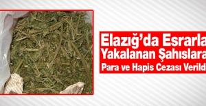 19 Kilo Esrarla Yakalanan Sanıklara 30 Yıl Hapis, 50 Bin Lira Para Cezası
