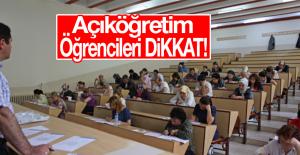 Açıköğretim Öğrencilerine Yeni Uygulama