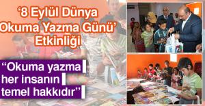 Okuma Yazma Öğrenen Çocuklara Kırtasiye Malzemesi Dağıtıldı