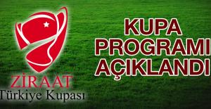 Ziraat Türkiye Kupası 3.Tur Maçlarının Programı Açıklandı