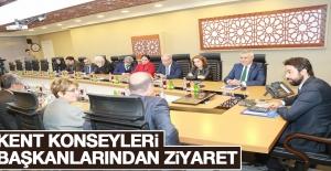 Kent Konseyleri Başkanlarından Ziyaret